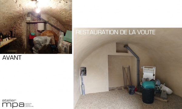Rénovation de la cave.